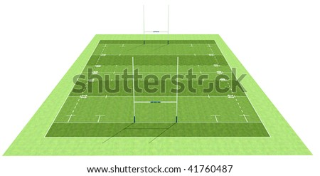 high definition of a rugby field - rendering