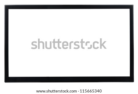 High Definition TV isolated on white