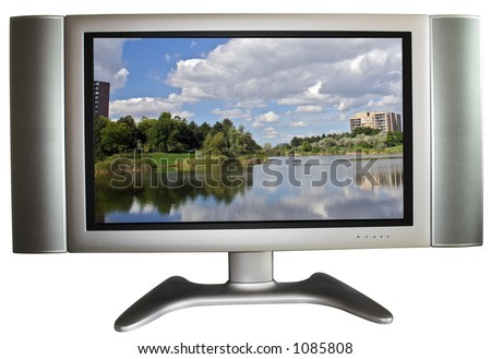 High-Definition TV with simulated picture