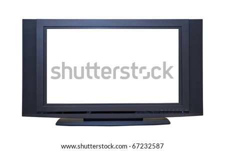 High Definition Widescreen LCD TV; isolated, path included