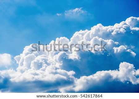 High detail cloud on blue sky background