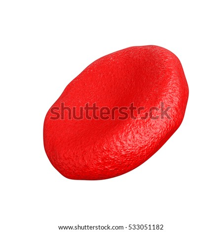 High Detail Red Blood Cell on a white background. 3d Rendering