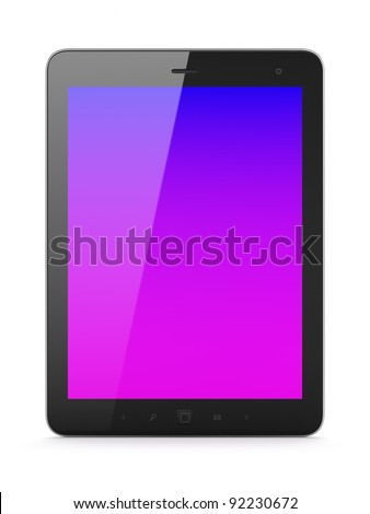 High-detailed tablet computer (tablet pc) on white background, 3d render.