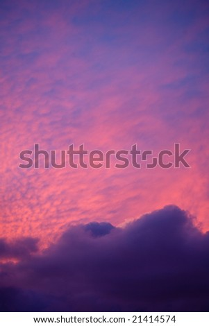 high dramatic sky at sunrise with  clouds #21414574