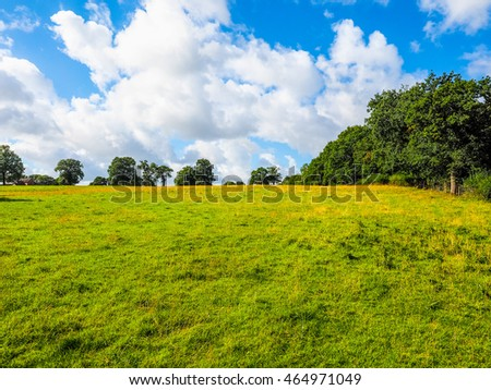 High dynamic range HDR English countryside in Tanworth in Arden Warwickshire, UK #464971049