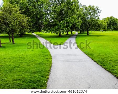 High dynamic range HDR Regent Park landscape in London England UK - Shutterstock ID 461012374