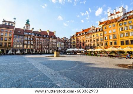 High dynamic range (HDR) Starego miasta meaning old town in Warsaw, Poland Zdjęcia stock ©