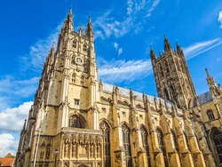 High dynamic range HDR The Canterbury Cathedral in Kent England UK