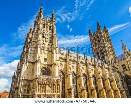 Shutterstock High dynamic range HDR The Canterbury Cathedral in Kent England UK