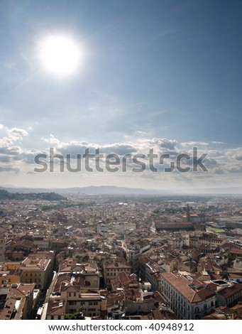 High dynamic Range photograph of Florence cityscape on a sunny day.