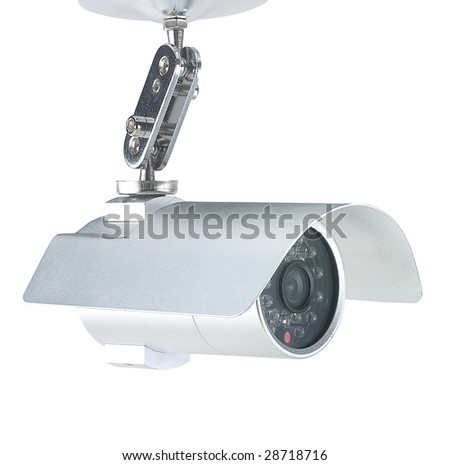 High end security camera isolated on white