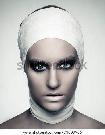 """WNTM CYCLE 7 """"PANEL"""" Stock-photo-high-fashion-female-model-beauty-shoot-scarf-around-hair-retouched-by-professional-retoucher-73809985"""