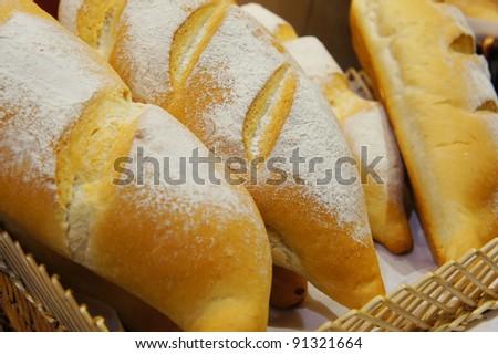 high fibre bread bun in basket