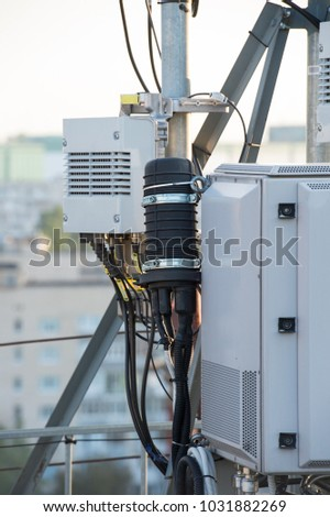 high frequency equipment with antenna feeder for telecommunication networks #1031882269