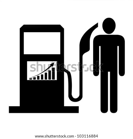 High Fuel Prices Concept - stock photo