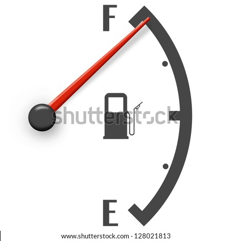 High fuel sign isolated on a white background