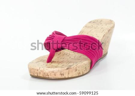 High heel plateau shoe