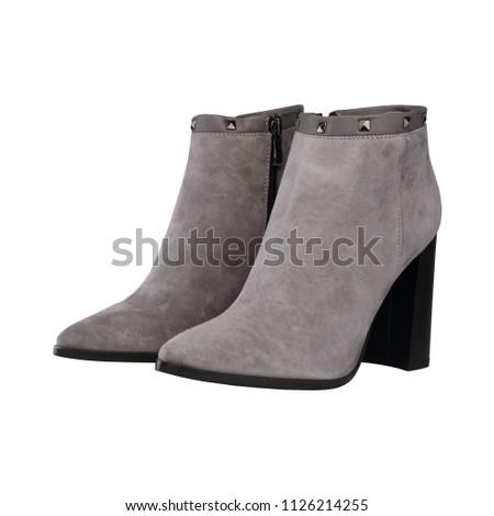 high-heeled women's boots #1126214255