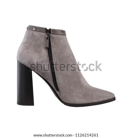 high-heeled women's boots #1126214261
