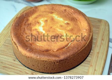 high homemade cake