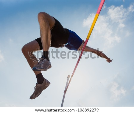 high jump in track and field #106892279