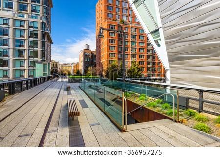 High Line Park in New York City.