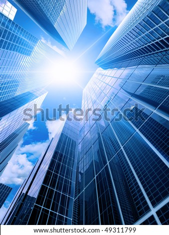 High modern buildings