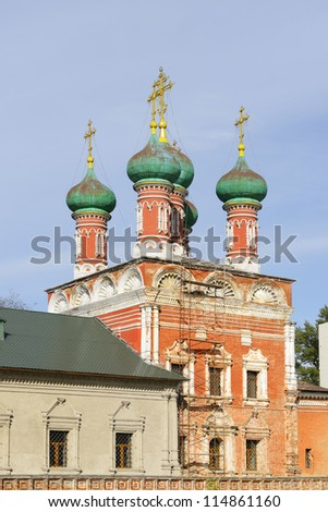 High Monastery of St Peter. Church of St. Sergius of Radonezh. Moscow, Russia
