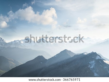 High mountain in morning time. Beautiful natural landscape #366765971