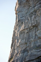 High mountain rock face