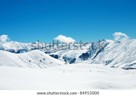 High mountains under snow in the winter #84955000