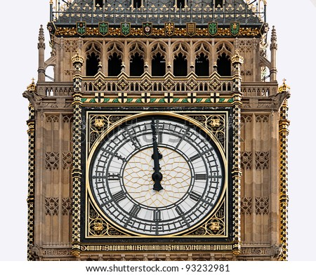 High Noon - Big Ben, London - almost midnight, midday,