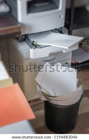High paper consumption in an office
