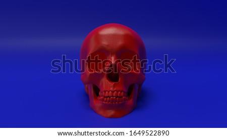 high poly anatomically correct render of human skull