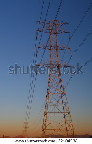 High power electric transmission tower