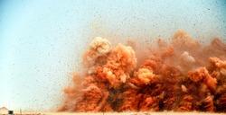 High power explosion after detonator blasting