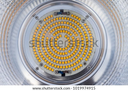 High Power Led Light Bulb On Top View Background #1019974915