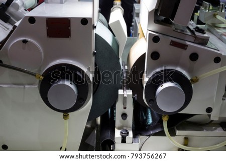 high precision centerless grinding CNC machine;side view