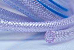 High Pressure Braided Clear Flexible PVC Tubing Heavy Duty UV Chemical Resistant Vinyl Hose