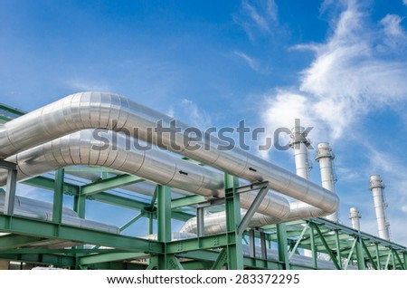 High pressure pipeline for gas transporting by The stainless steel