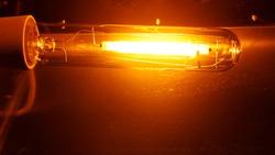 high pressure sodium lamp HPS orange light