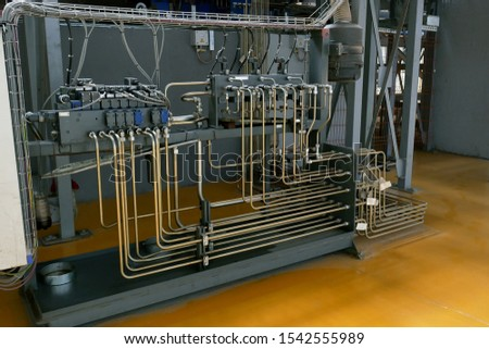 high pressure tubes in an industrial plant. Industrial background #1542555989