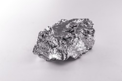 high purity polycrystalline silicon from Freiberg Germany isolated on white background