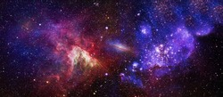 High quality background space. Space many light years far from the Earth. Elements of this image furnished by NASA