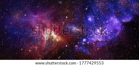 High quality background space. Space many light years far from the Earth. Elements of this image furnished by NASA Stock photo ©