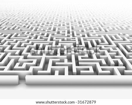 High quality illustration of a large maze or labyrinth. Please see my portfolio for more in the series.