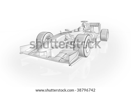 Formula  Auto Racing News on Illustration Of An Formula 1 Racing Car   38796742   Shutterstock