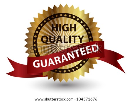 High quality label.  illustration sign. - stock photo