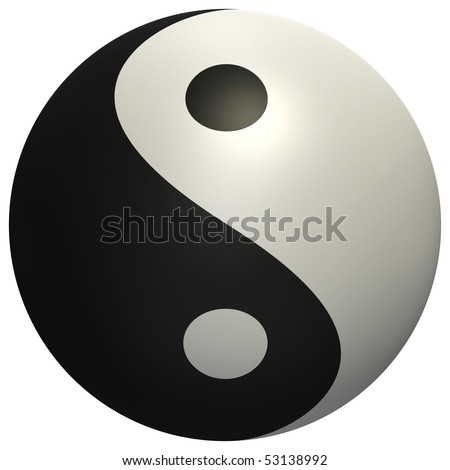 High quality render of Yin Yang ball