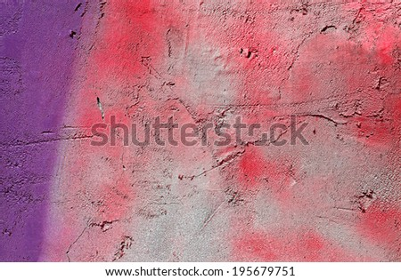 High quality textured and abstract weathered natural rough pink and purple paint pattern with aged and grunge look which can be used as a wallpaper or background